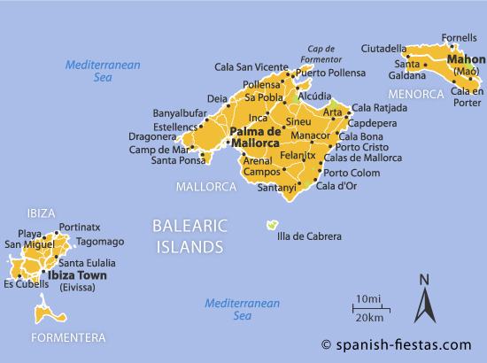 Balearic Islands Map