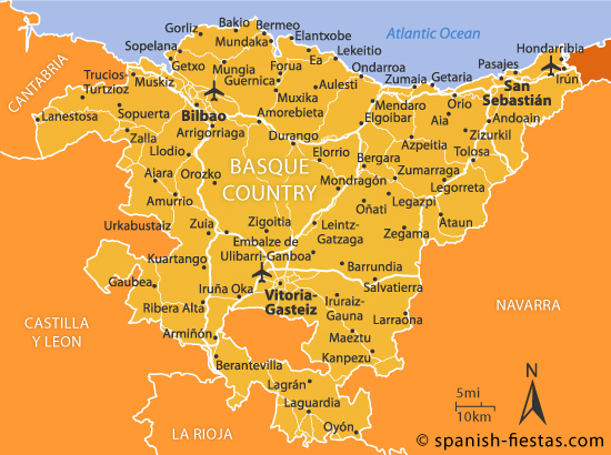 Basque Country Map