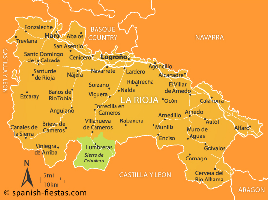 Rioja Region Spain Map.La Rioja Travel Guide