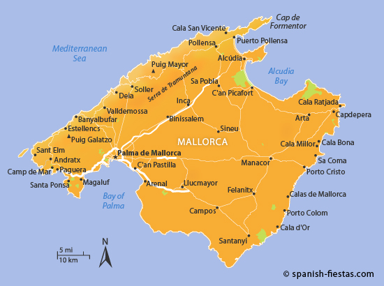 Map Of Spain Majorca.Mallorca Tourist Information Travel Guide Spanish Fiestas