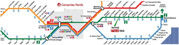 Train to Montmelo from Barcelona