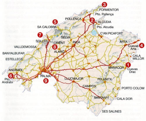 Mallorca Route Map