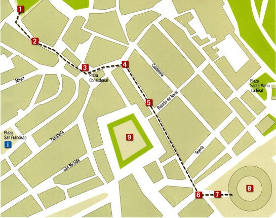 Pamplona Bull Run Map
