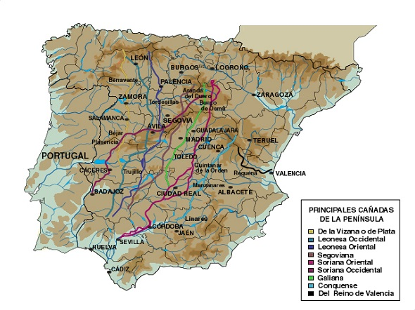 Cattle Routes Map