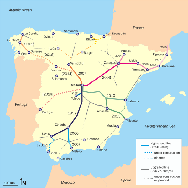 AVE Rail Map