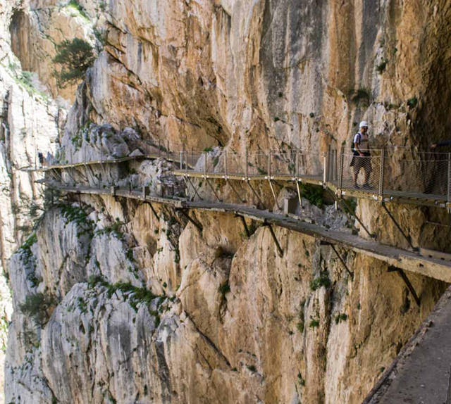 Restoration work on the Caminito del Rey