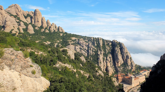 Looking Down on the Monastery at Montserrat