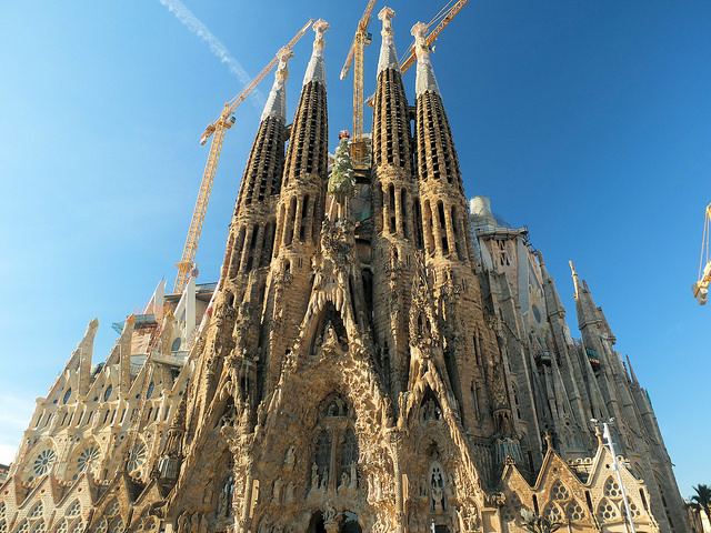 The Sagrada Familia is the most popular of the many Barcelona tourist attractions