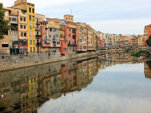 River Running Through the Centre of Girona