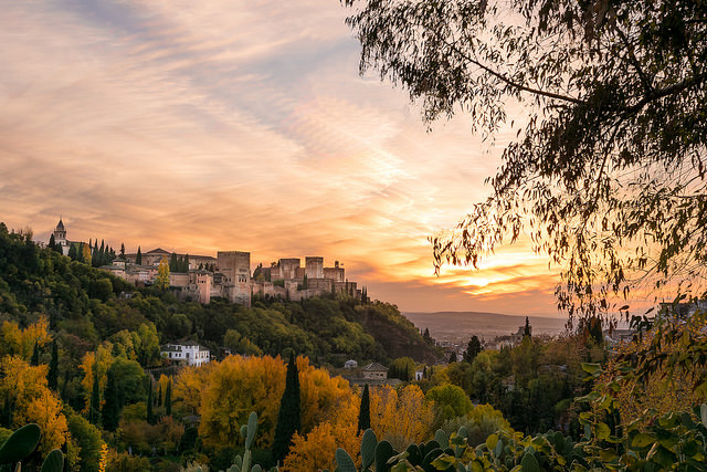 Stunning View of the Alhambra in Autumn