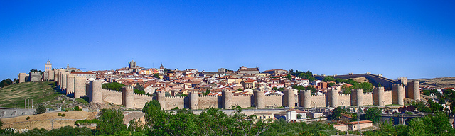 Panoramic View of the Walls of Ávila