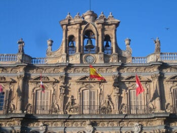Close up Photo of Salamanca's Plaza Mayor