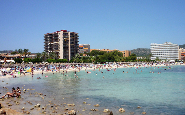 Packed Magaluf Beach