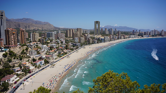 View Across Benidorm Beach