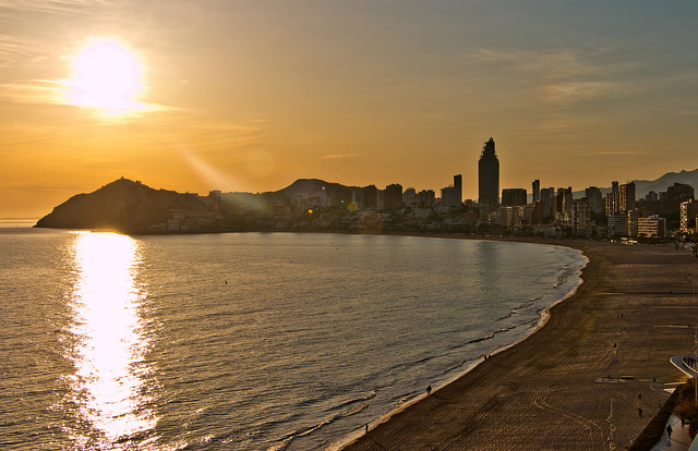 Sunset Over Benidorm