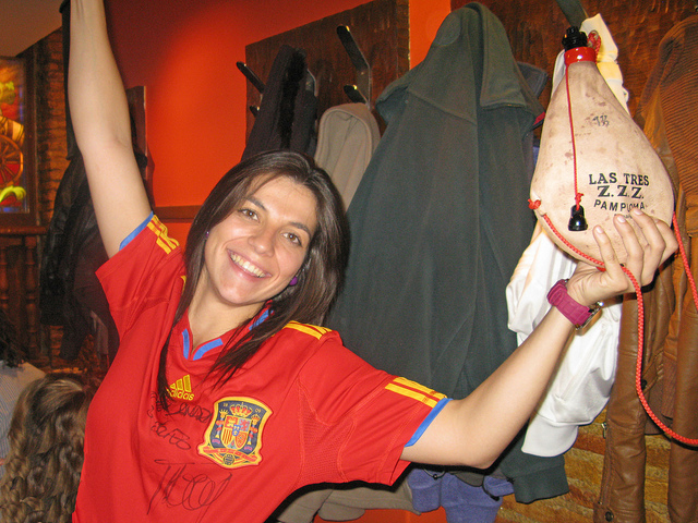 Celebrations in the Otano Bar in Pamplona