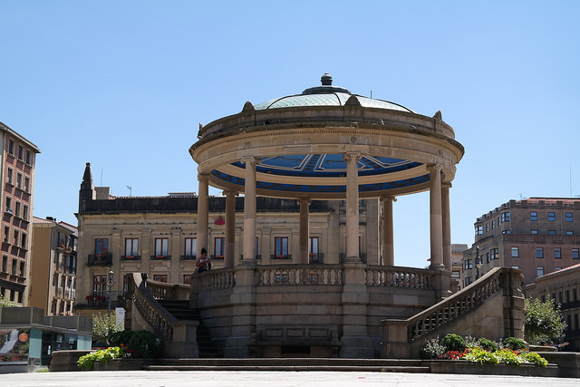 Bandstand in Plaza del Castillo