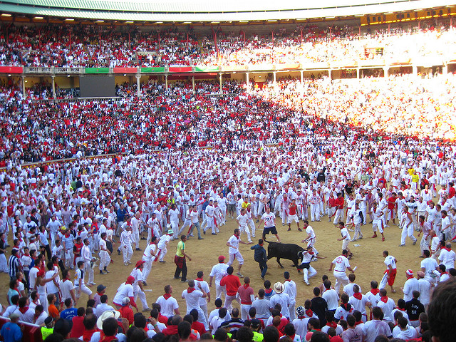 Pamplona Bullring After the Bullrun
