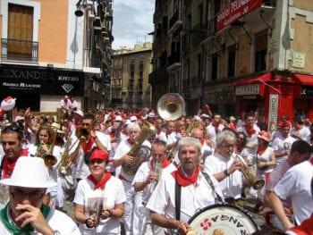 Street Band During San Fermín