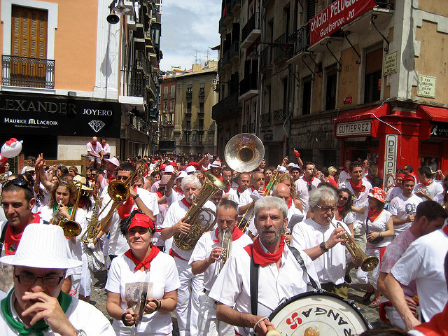 Street Band During San Fermín