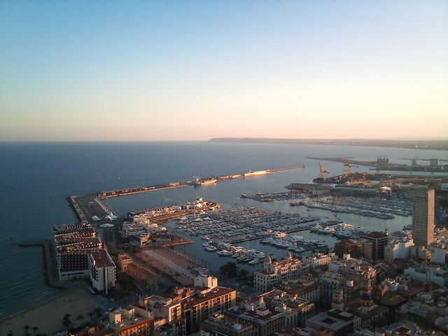 View Across the Alicante Cruise Port