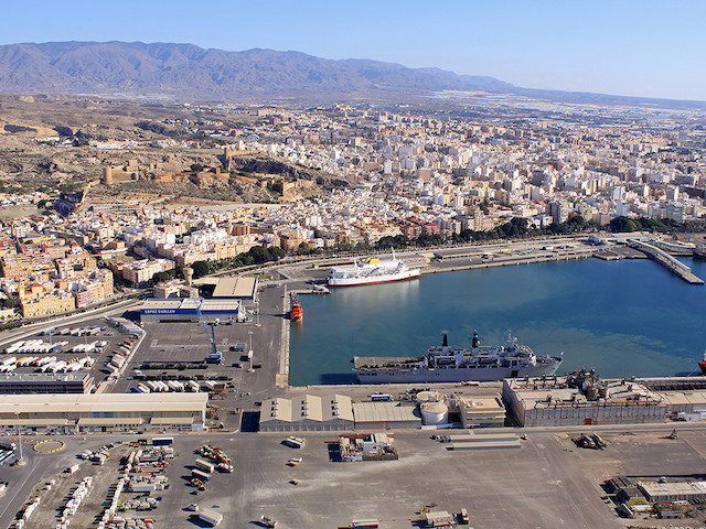 Aerial View of Almería Port