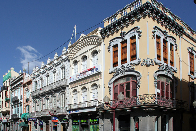Typical Buildings in Calle Mayor de Triana