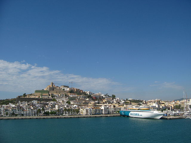 Ferry Docked in Ibiza Harbour