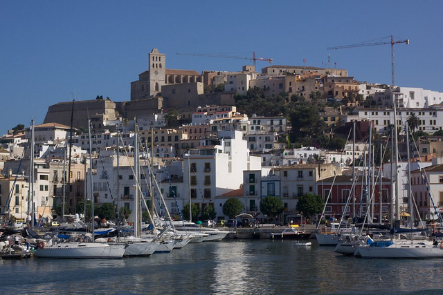 Sailboats in Ibiza Port