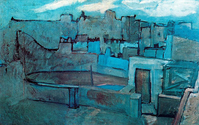 Rooftops of Barcelona (1903) - Picasso