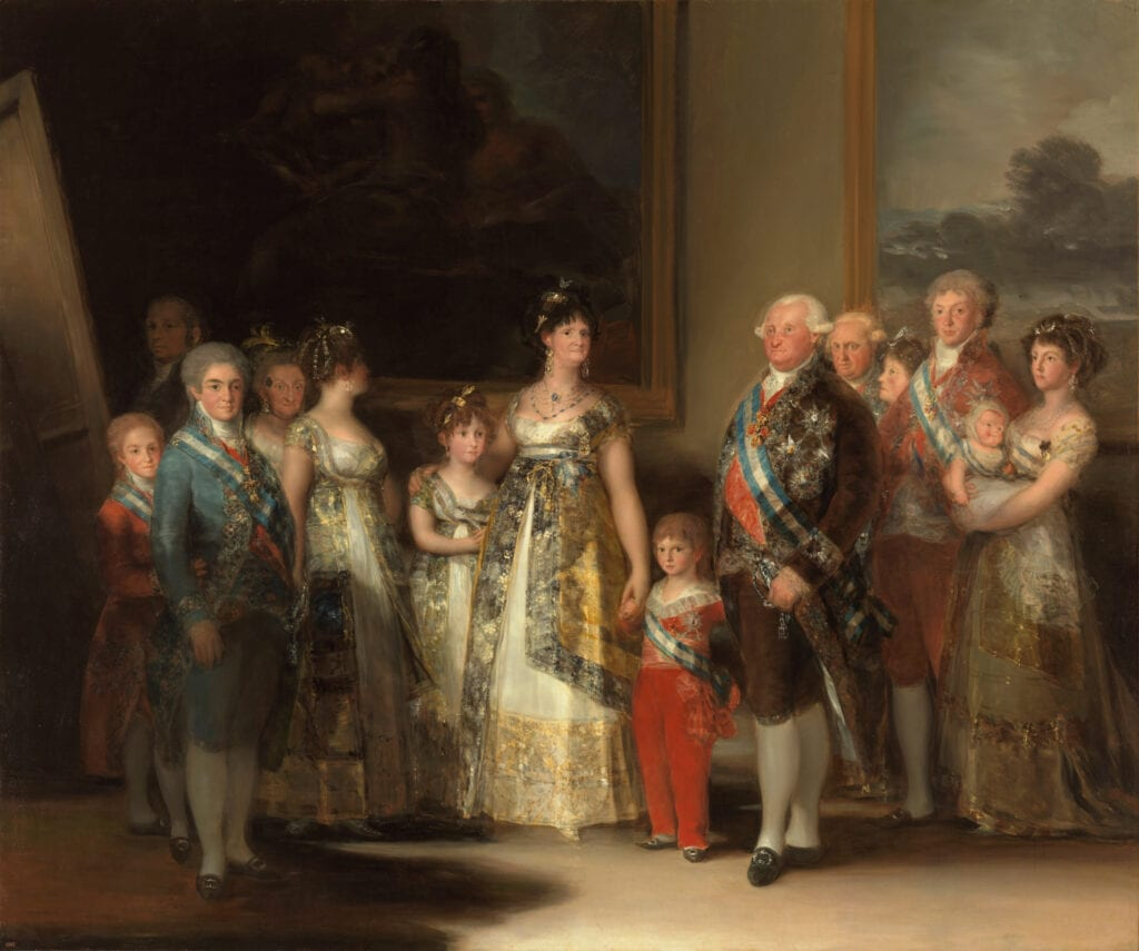 Goya's Charles IV of Spain and His Family - La Familia de Carlos IV