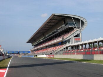 Main Grandstand of the Circuit de Barcelona-Catalunya MotoGP Racetrack