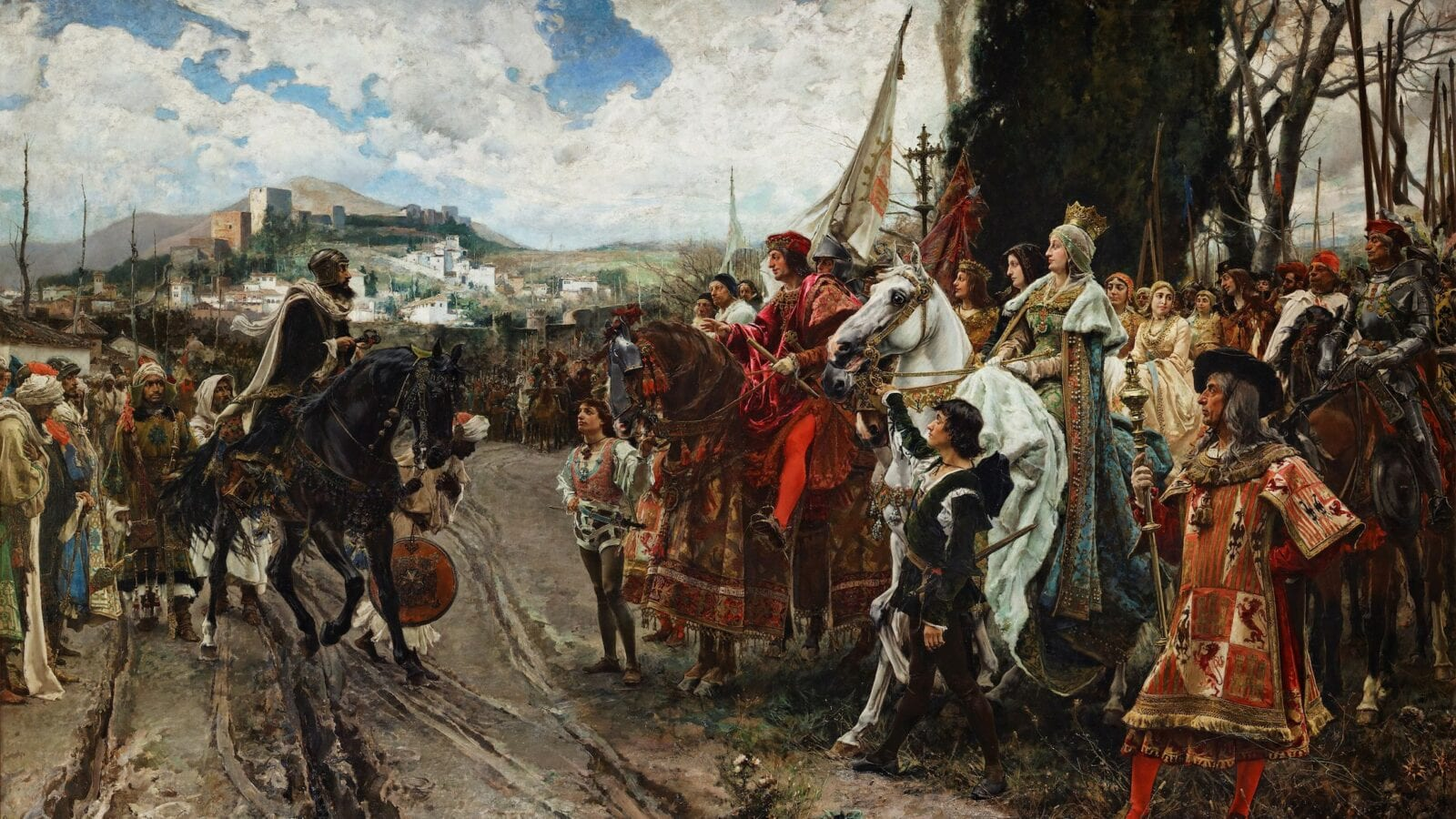 La Rendición de Granada (1882) - Surrender of Granada by Francisco Pradilla Ortiz