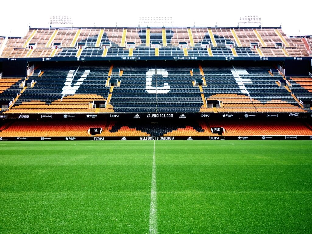 Valencia football tickets at the Mestalla Stadium