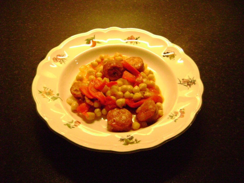Chickpeas and Chorizo Recipe