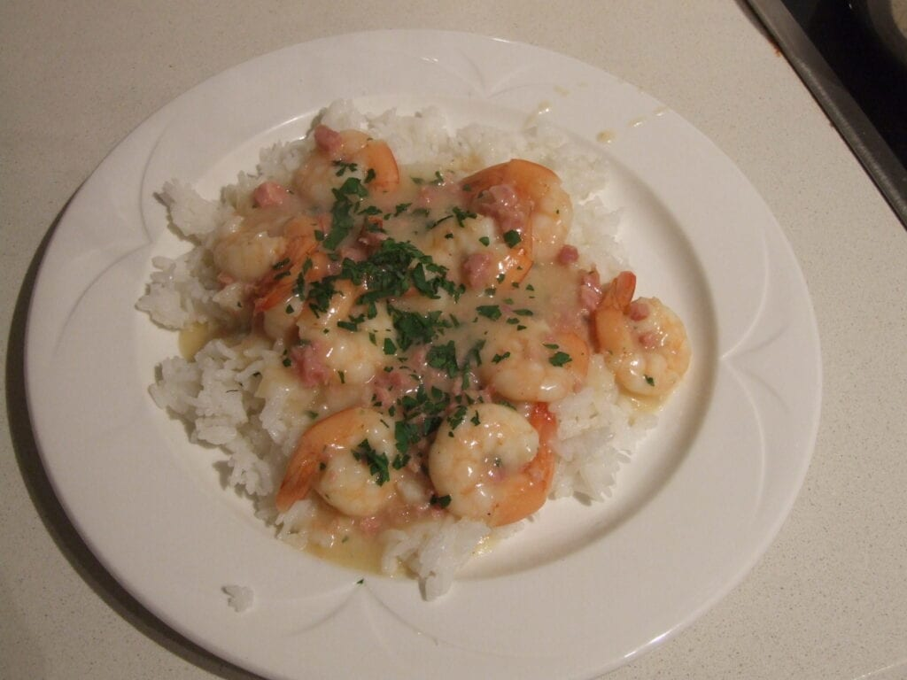 Prawns in White Wine Recipe