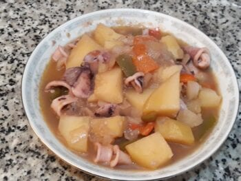 Aquid and Potato Stew Recipe