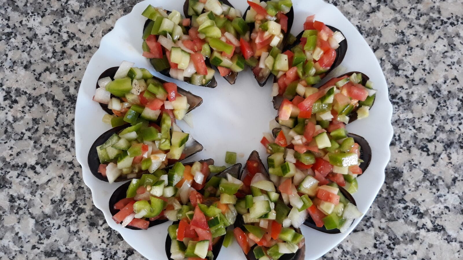 Mussels with Pipirrana Salad