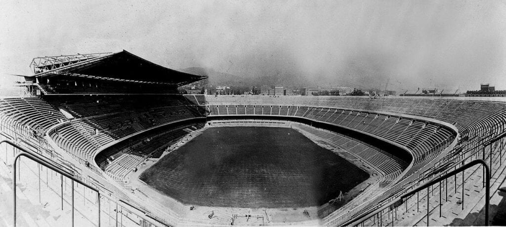 FC Barcelona's Camp Nou Stadium in 1957